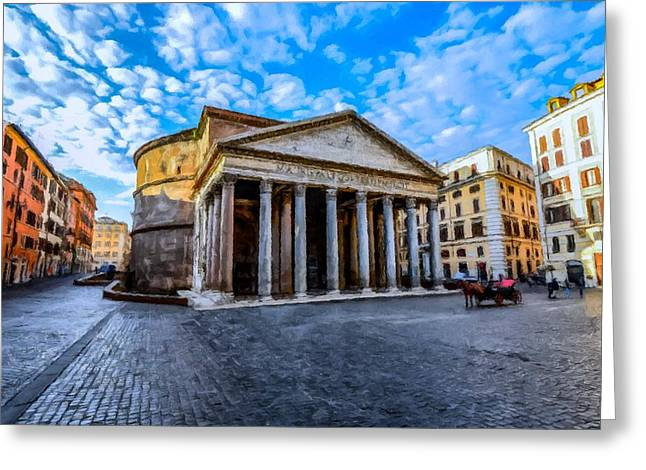The Pantheon Rome Greeting Card by David Dehner