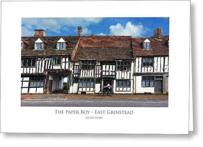 The Paper Boy - East Grinstead Greeting Card