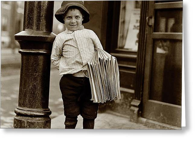 The Paper Boy  Greeting Card