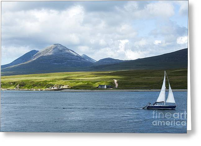The Paps Of Jura Greeting Card by Diane Diederich