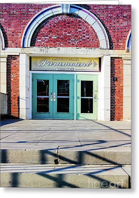 Greeting Card featuring the photograph The Paramount Theatre by Colleen Kammerer