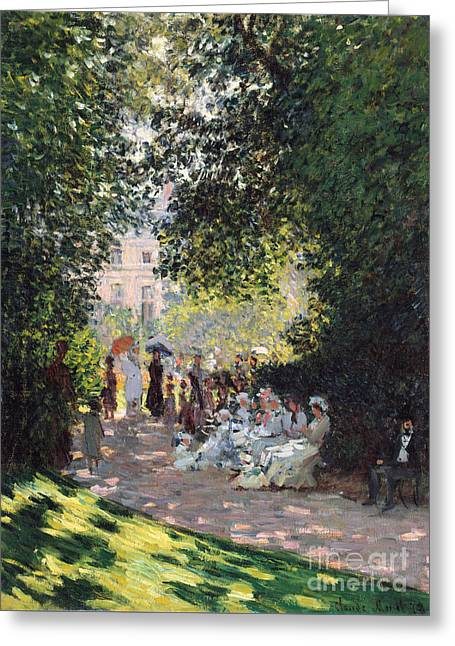 The Parc Monceau, 1878  Greeting Card by Claude Monet