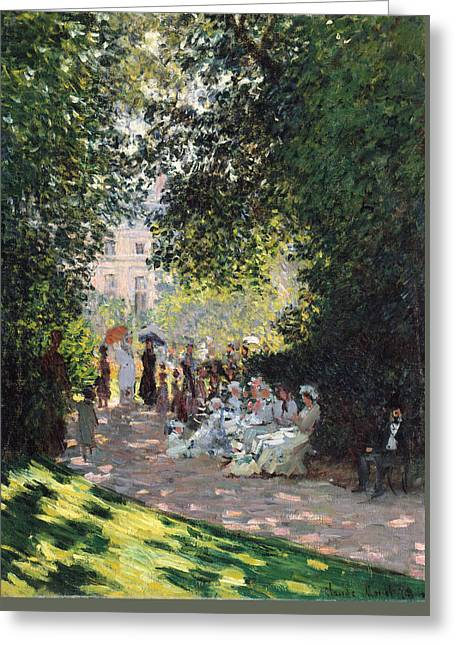 The Parc Monceau Greeting Card by Claude Monet