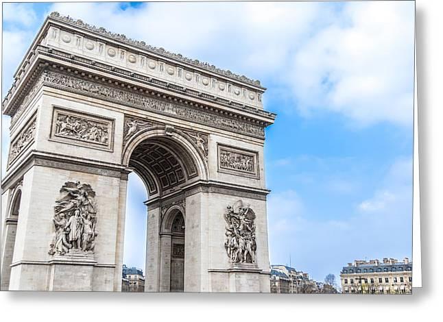 The Paris Arch Of Triumph Greeting Card by Nila Newsom