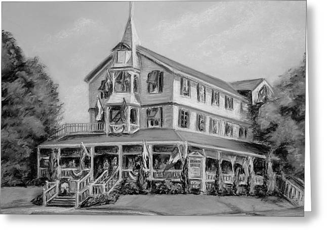 The Parker House Black And White Greeting Card