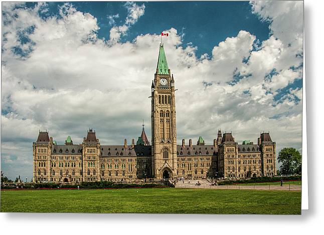The Parliament Building In Ottawa Canada Greeting Card by Randall Nyhof