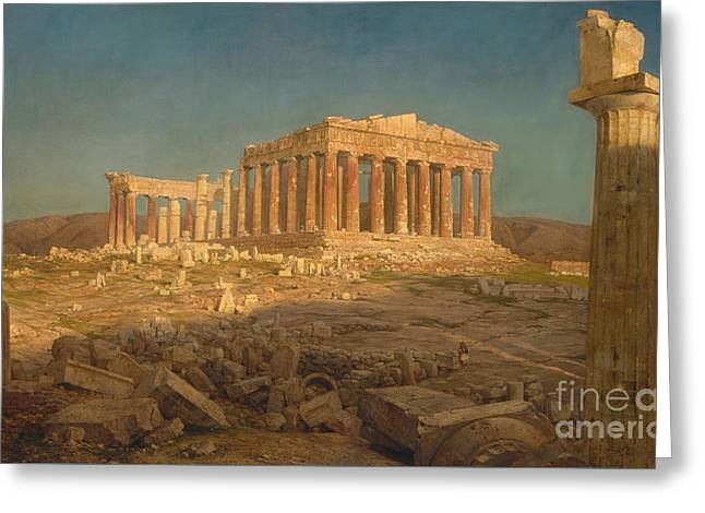 The Parthenon, 1871 Greeting Card by Frederic Edwin Church