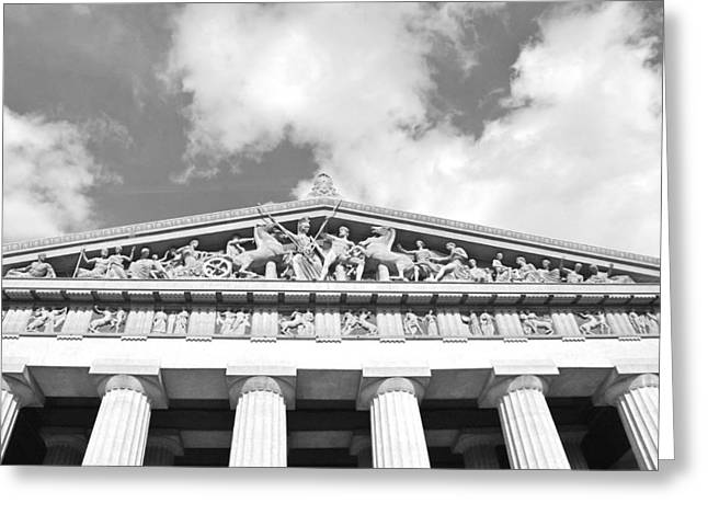 The Parthenon In Nashville Tennessee Black And White 2 Greeting Card