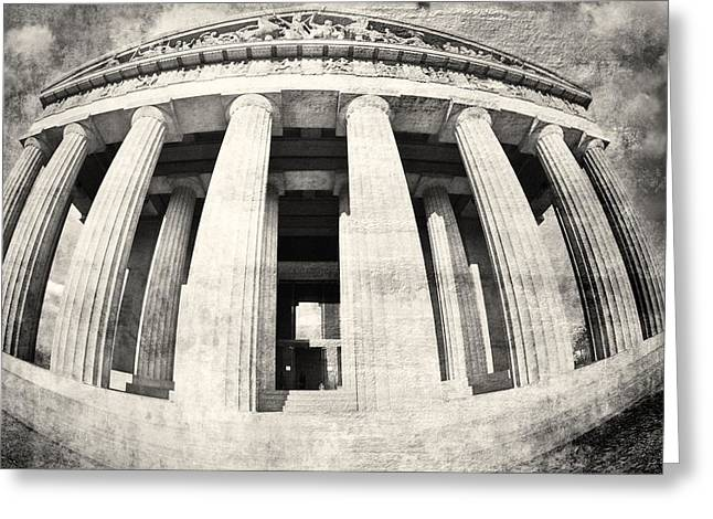 The Parthenon In Nashville Tennessee Black And White 3 Greeting Card
