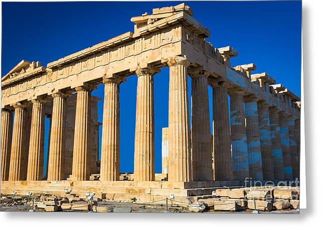 The Parthenon Greeting Card by Inge Johnsson
