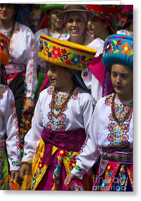 The Pase Del Nino Parade Is World Famous Greeting Card by Al Bourassa