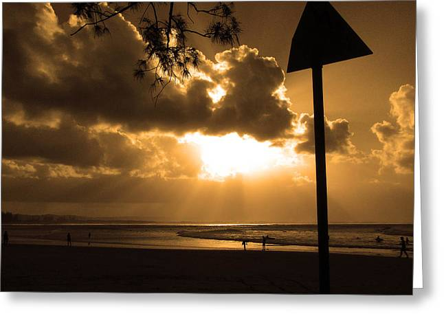 The Pass Byron Bay Greeting Card by Edan Chapman