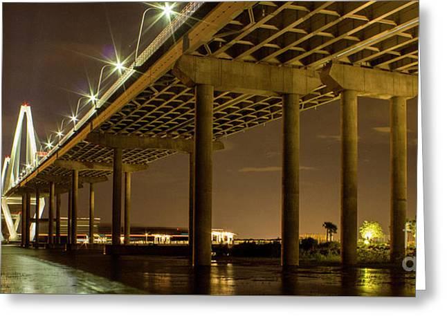 A Great Passageway Arthur Ravenel Jr Bridge Charleston South Carolina Greeting Card by Reid Callaway