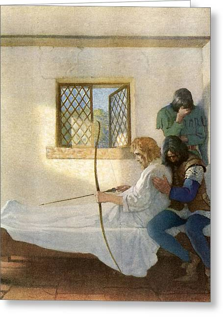 The Passing Of Robin Hood Greeting Card by Newell Convers Wyeth