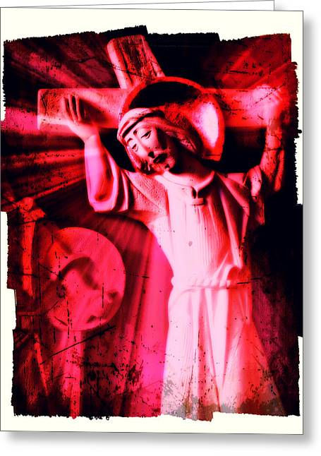 The Passion Of Christ Xiii Greeting Card by Aurelio Zucco