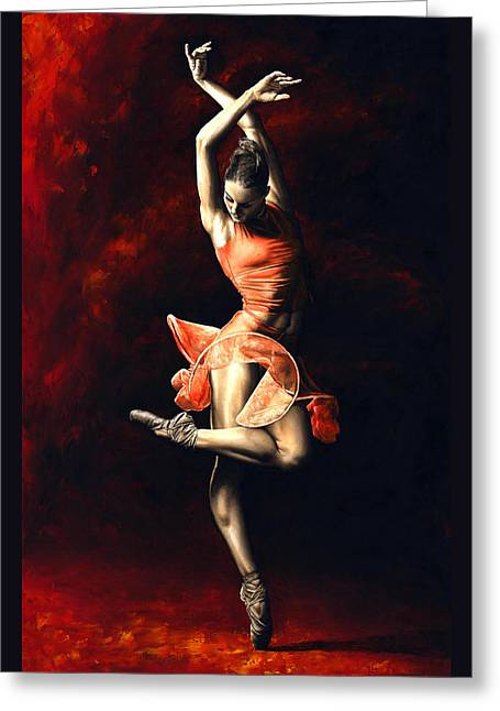 The Passion Of Dance Greeting Card