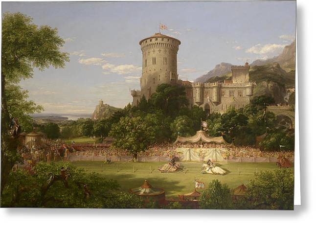 The Past 2 Greeting Card by Thomas Cole