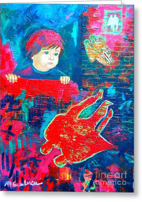 The Past Is Pink  The Present Is Blue  Future I Don T Know Greeting Card by Ana Maria Edulescu
