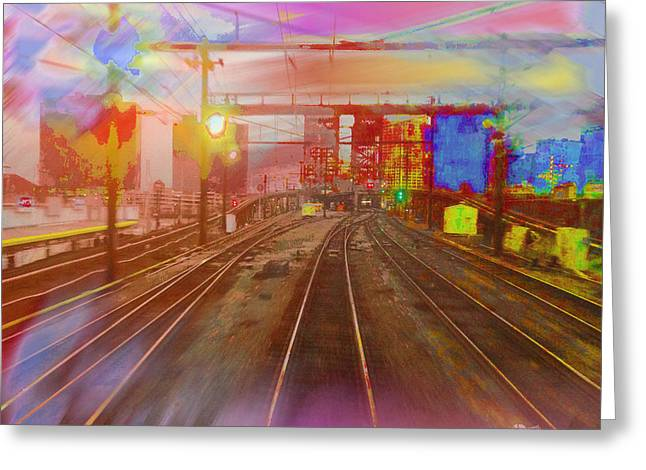 The Past Train 3 Greeting Card by Tony Rubino