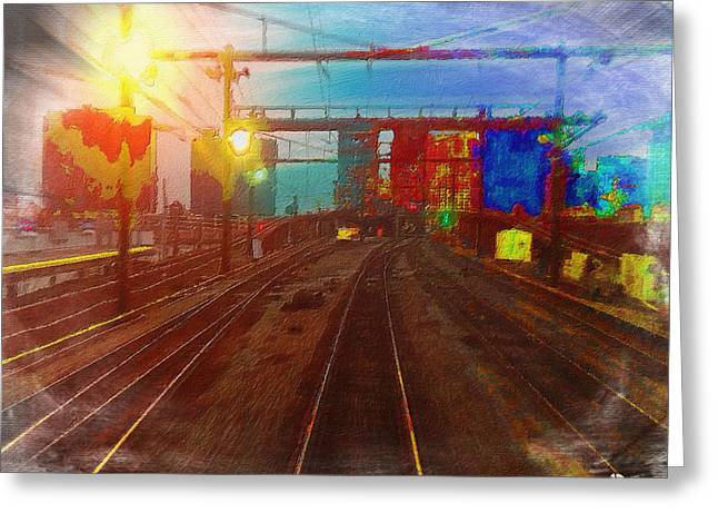 The Past Train 4 Greeting Card by Tony Rubino