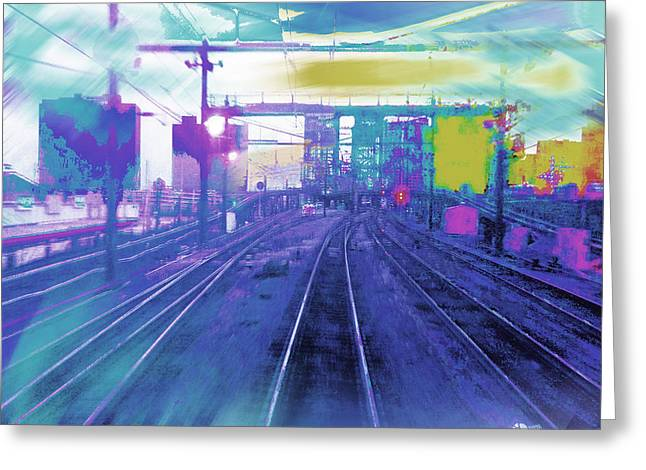 The Past Train 5.1 Greeting Card by Tony Rubino