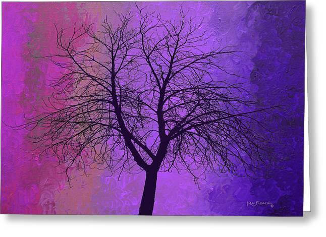 The Pastel Tree Greeting Card by Ken Figurski