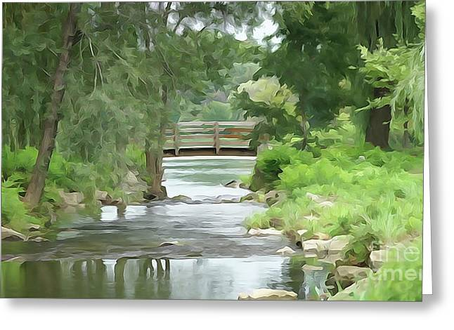 The Pasture's Bridge Greeting Card