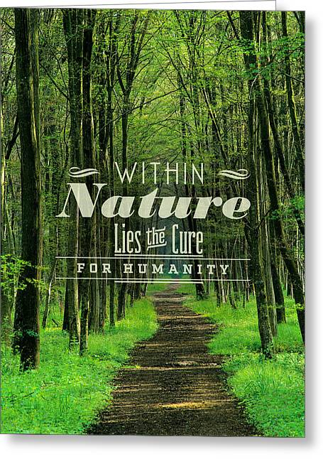 The Path For Humanity Greeting Card