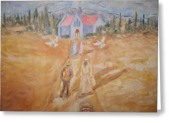 The Path Greeting Card by Joseph Sandora Jr