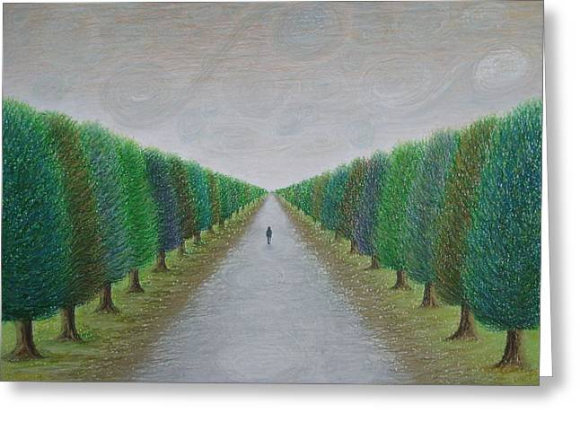 Destiny Pastels Greeting Cards - The Path Greeting Card by Lynet McDonald