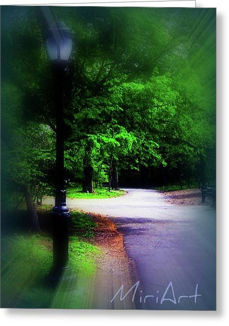 Greeting Card featuring the photograph The Path by Miriam Shaw