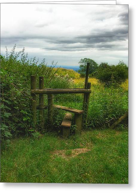 Greeting Card featuring the photograph The Path Most Traveled  by Connie Handscomb