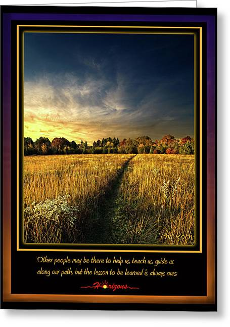 Inspirational Poster Greeting Cards - The Path Greeting Card by Phil Koch