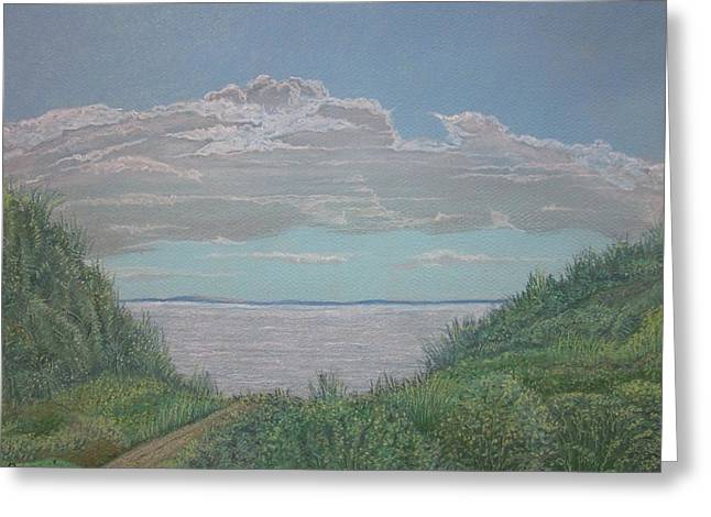 The Path To Ryder Beach Greeting Card by Harvey Rogosin