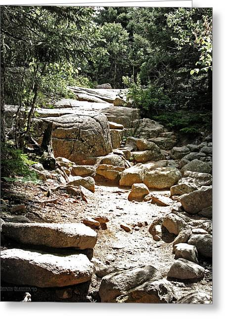 The Path To The Mountain Top Greeting Card by Garth Glazier