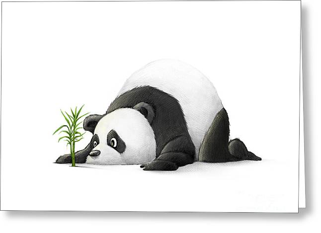 The Patient Panda Greeting Card