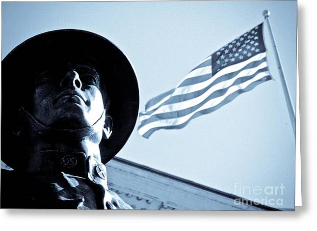 The Patriot Theme Greeting Card by Syed Aqueel
