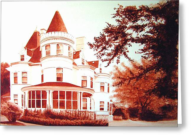 The Patton House Greeting Card by Scott Robinson