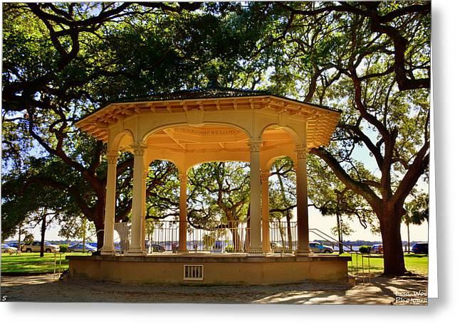 The Pavilion At Battery Park Charleston Sc  Greeting Card