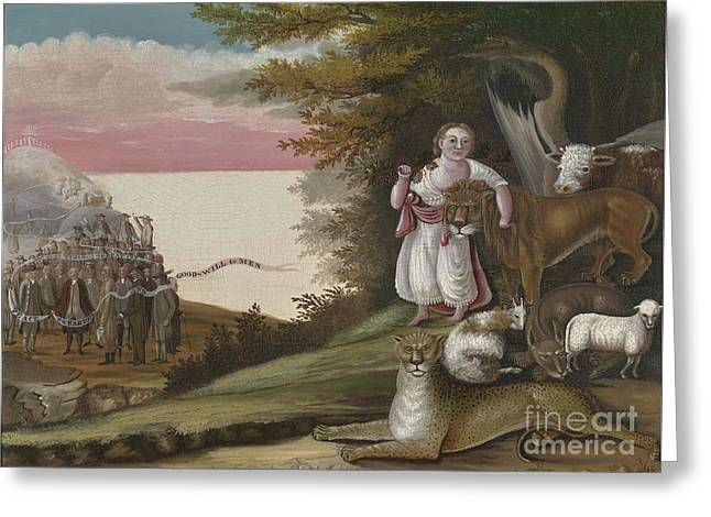 The Peaceable Kingdom, 1829-30 Greeting Card