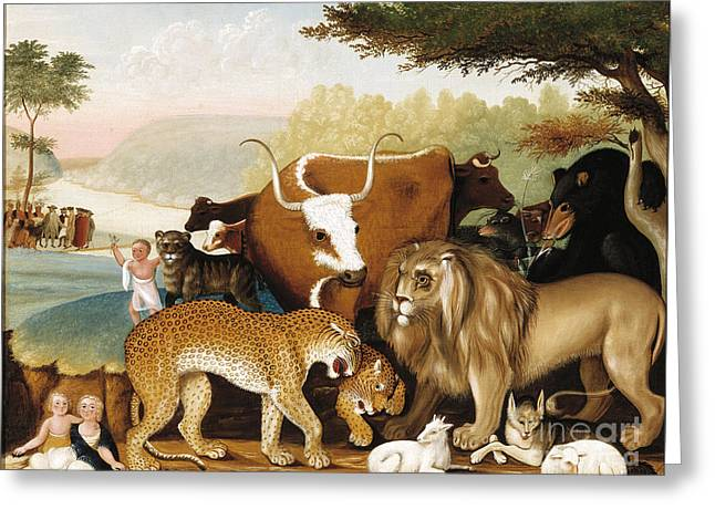 The Peaceable Kingdom Greeting Card by Celestial Images