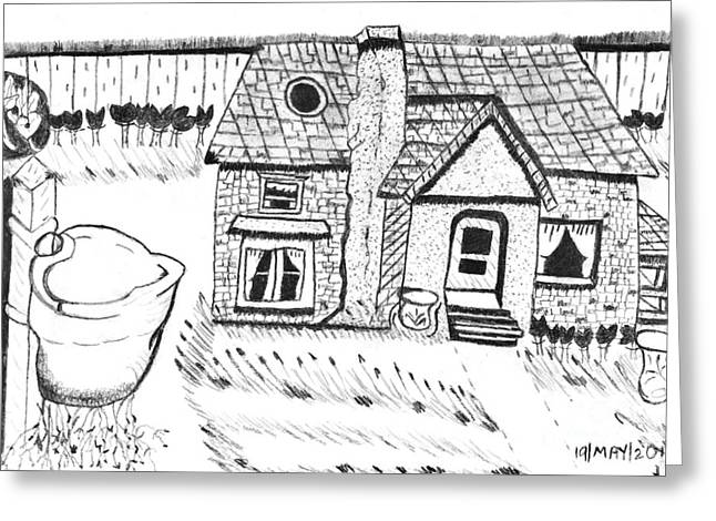 The Peaceful Cottage Greeting Card