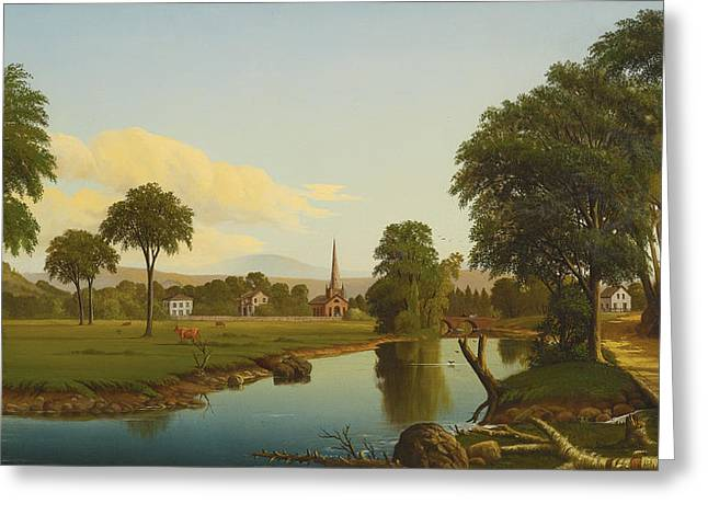 The Peaceful Valley  Greeting Card by Levi Wells Prentice