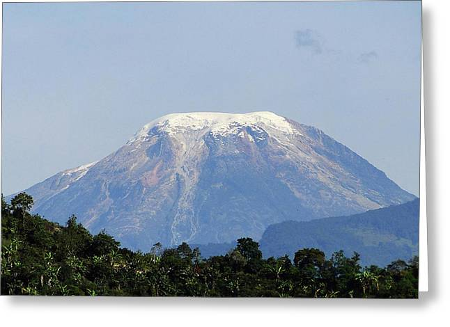 Greeting Card featuring the photograph The Peak by Blair Wainman