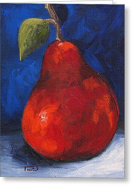 The Pear Chronicles 007 Greeting Card by Torrie Smiley
