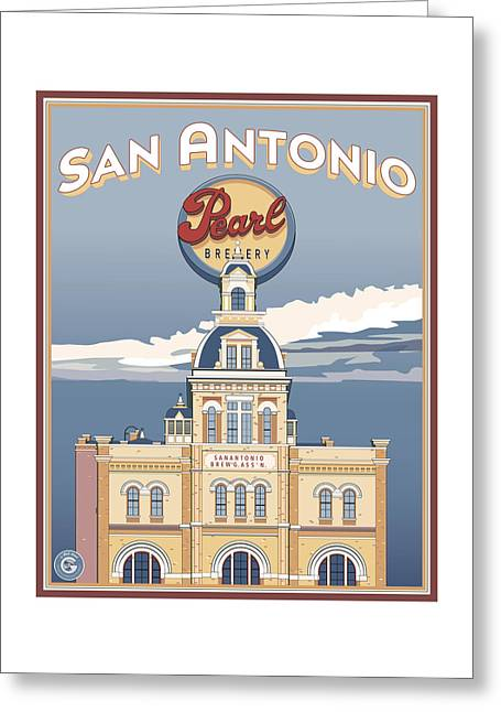 The Pearl Brewhouse Greeting Card by Matt Hood