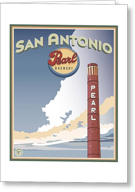 The Pearl Smokestack Greeting Card