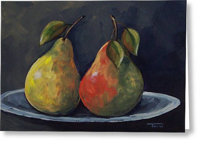The Pears  Greeting Card by Torrie Smiley