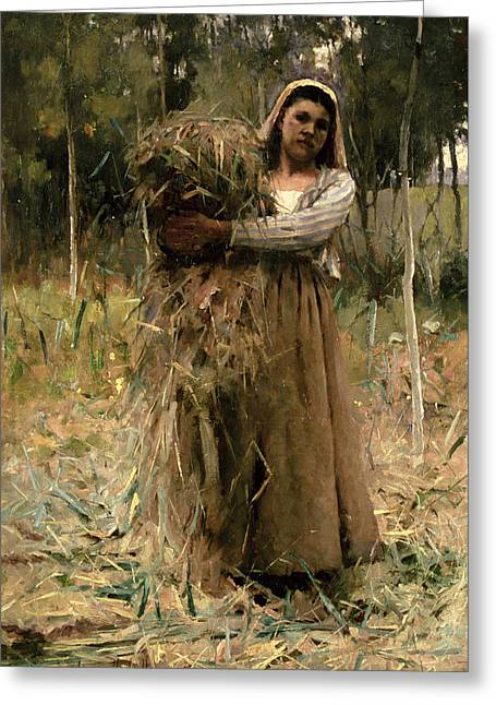 The Peasant Girl  Greeting Card by Arthur Melville