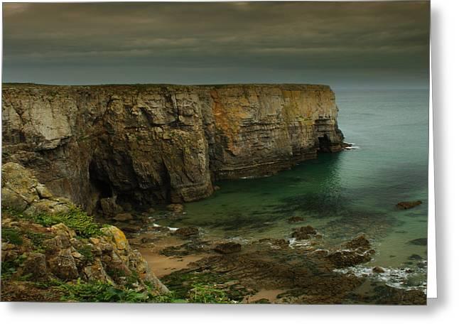 The Pembrokeshire Cliffs Greeting Card by Angel Ciesniarska